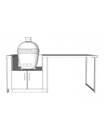 Configuration Le comptoir lunch avec comptoir en granit pour BBQ au charbon - Pure