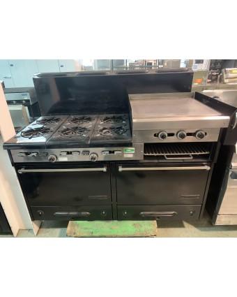 Cuisinière au gaz naturel avec plaque à frire (usagée)