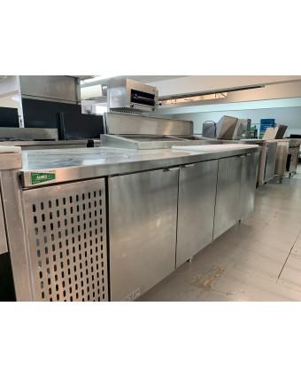Table de préparation réfrigérée quatre portes pleines (usagée)