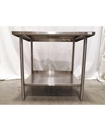 """Table de travail en acier inoxydable 38"""" x 31"""""""