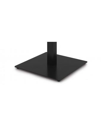 """Base de table carrée en acier 16"""" x 16"""" x 28,5"""" - Noir"""