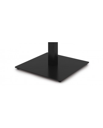 """Base de table carrée en acier 24"""" x 24"""" x 28,5"""" - Noir"""