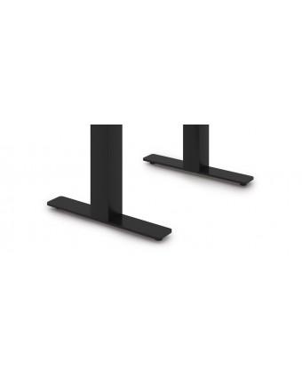 """Base de table en acier en forme de T 16"""" x 28,5"""" - Noir"""