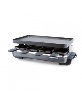 Ensemble à raclette en acier inoxydable et en fonte d'aluminium 8 personnes - Classic