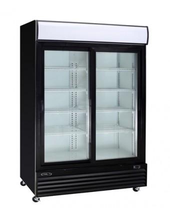 Réfrigérateur deux portes coulissantes 40,8 pi³ - Noir