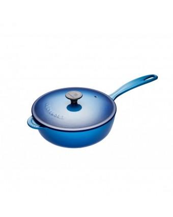 Sauteuse en fonte émaillée avec couvercle 2,1 L - Bleuet