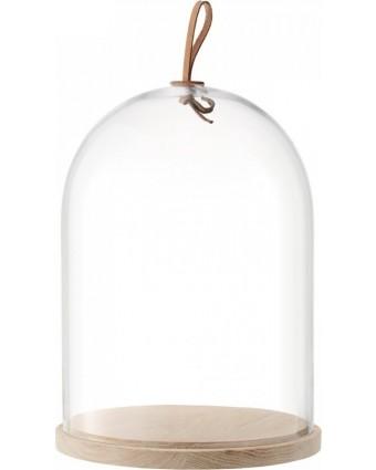 Plateau en frêne avec cloche en verre 11.8'' - Ivalo