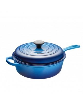 Sauteuse en fonte émaillée avec couvercle 3,5 L - Bleuet
