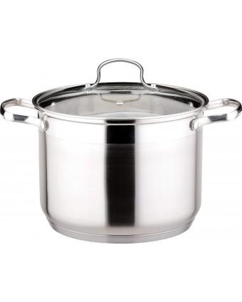 Marmite en acier inoxydable avec couvercle Le Stock Pot 6 L