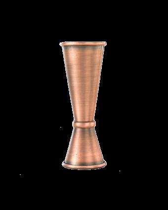 Mesure à boisson en acier inoxydable 1 oz et 2 oz - Cuivre antique