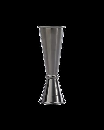 Mesure à boisson en acier inoxydable 1 oz et 2 oz - Noir