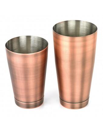 Ensemble de deux shakers en acier inoxydable - Cuivre antique