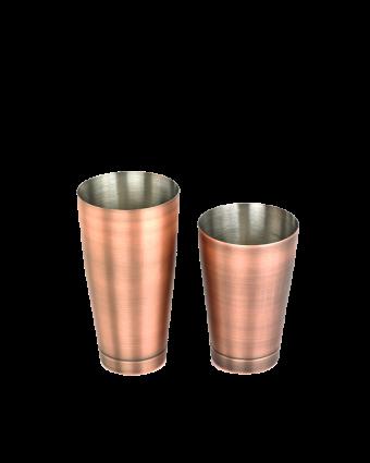 Ensemble de deux verres à mélanger en acier inoxydable - Cuivre antique