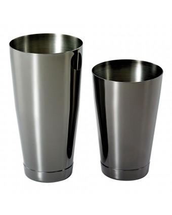 Ensemble de deux shakers en acier inoxydable - Noir