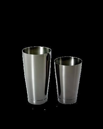 Ensemble de deux verres à mélanger en acier inoxydable - Noir
