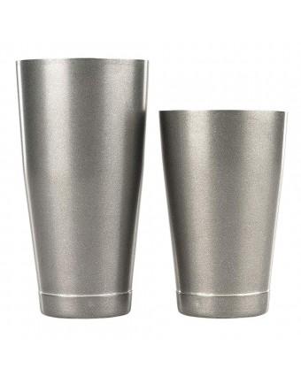 Ensemble de deux shakers en acier inoxydable - Vintage