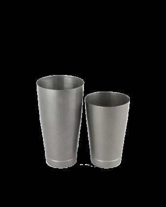 Ensemble de deux verres à mélanger en acier inoxydable - Vintage