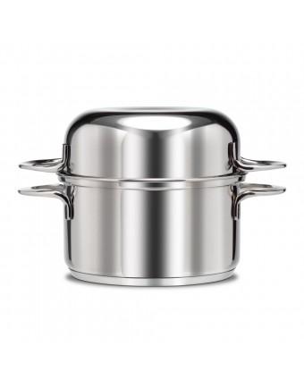 Casserole à moules en acier inoxydable 2 lb