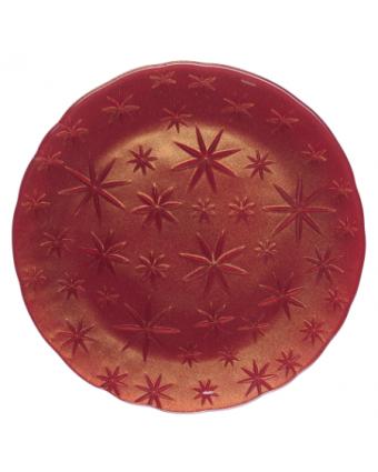 Assiette de service ronde en cristal 8''