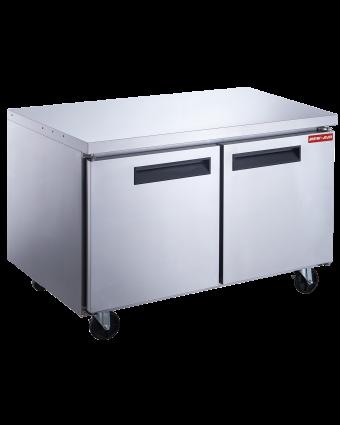 Réfrigérateur sous-comptoir trois portes pleines 19 pi³