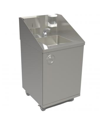 Évier sur pied pour le lavage des mains - Autonome / Eau chaude / Détecteur de mouvement