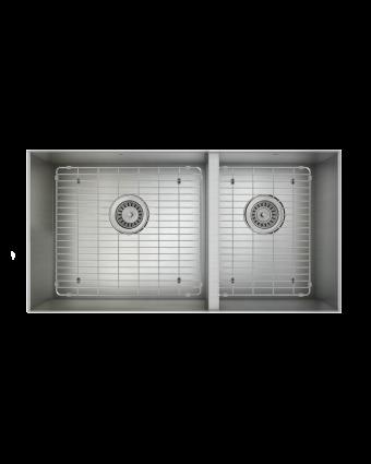 """Évier double en acier inoxydable avec grilles ProInox H0 30"""" x 16"""" x 9"""""""