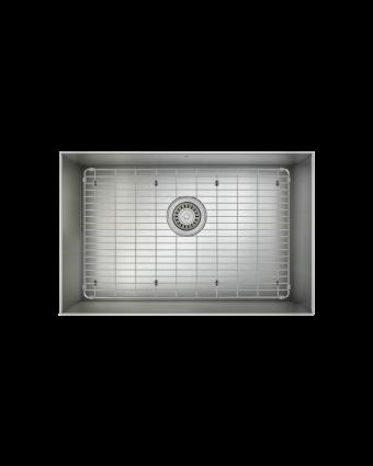 """Évier simple en acier inoxydable avec grille ProInox H0 25"""" x 16"""" x 9"""""""