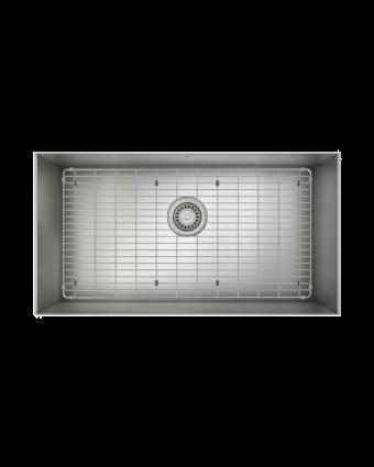 """Évier simple en acier inoxydable avec grille ProInox H0 30"""" x 16"""" x 9"""""""