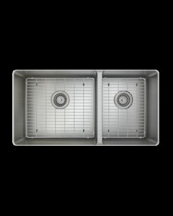 """Évier double en acier inoxydable avec grilles ProInox H75 30"""" x 16"""" x 9"""""""