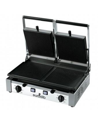 Grille-panini à nervures double série PD - 3000 W