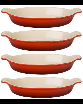 Ensemble de quatre plats à gratin - Cerise