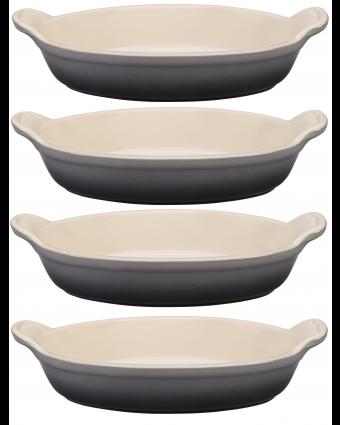 Ensemble de quatre plats à gratin - Oyster
