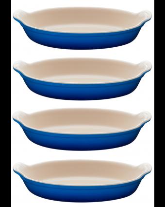 Ensemble de quatre plats à gratin - Bleuet