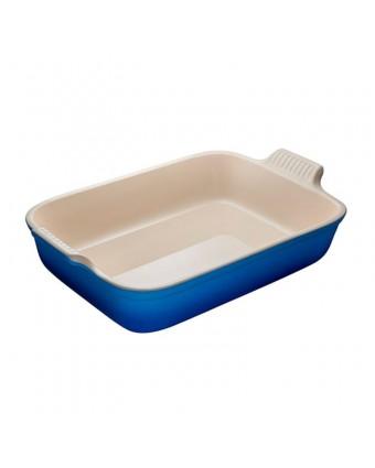 Plat de cuisson en grès rectangulaire 4,7 L - Bleuet