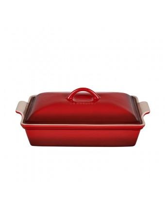 Plat de cuisson en grès rectangulaire 3,8 L - Cerise
