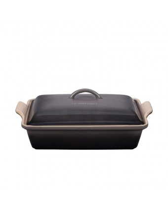 Plat de cuisson en grès rectangulaire 3,8 L - Oyster
