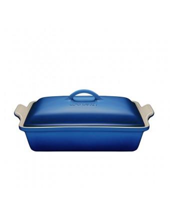 Plat de cuisson en grès rectangulaire 3,8 L - Bleuet