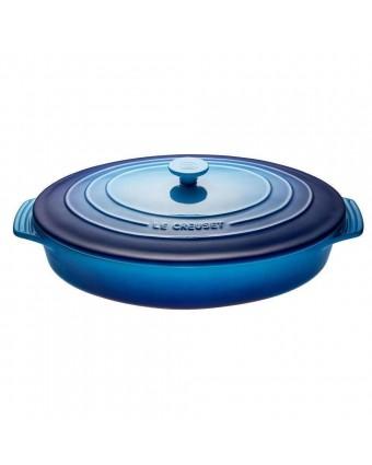 Plat de cuisson ovale 3,5 L avec couvercle - Bleuet