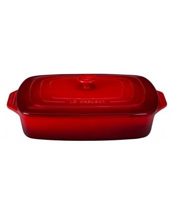 Plat de cuisson rectangulaire 3,3 L avec couvercle - Cerise
