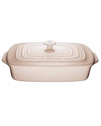 Plat de cuisson rectangulaire 3,3 L avec couvercle - Meringue