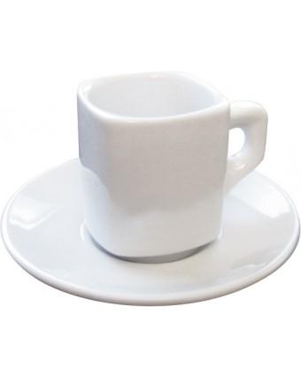 Ensemble de six tasses à cappuccino 8 oz avec soucoupes