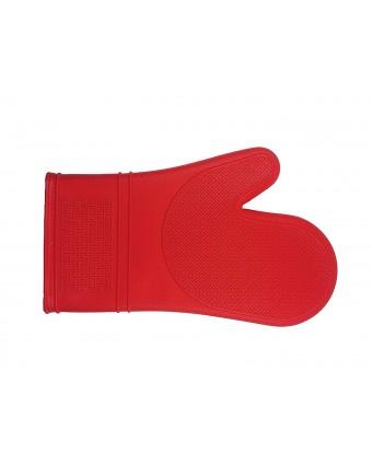 Mitaine de four en silicone 12'' - Rouge