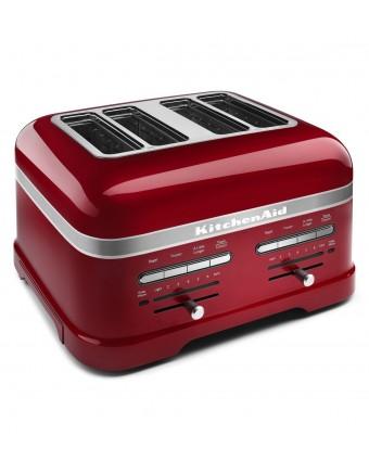 Grille-pain quatre fentes Pro Line - Rouge