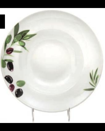 """Assiette à pâtes ronde 10,6"""" - L'Olive"""
