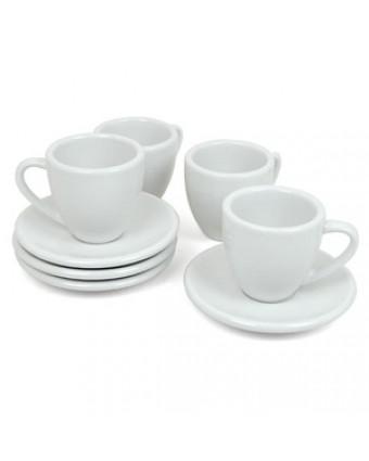 Ensemble de deux tasses en porcelaine 2 oz avec soucoupes