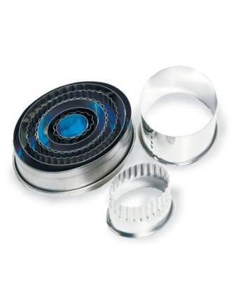 Ensemble de neuf emporte-pièces ovales en acier inoxydable