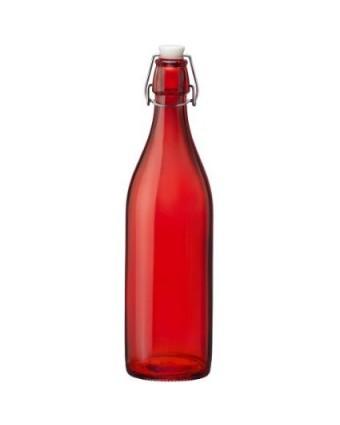 Bouteille en verre à étrier 33,75 oz - Rouge