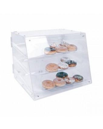 """Présentoir à pâtisseries en acrylique à trois plateaux 21"""""""