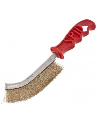 Brosse de nettoyage avec poils en laiton
