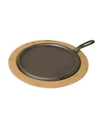 Base en fibre ronde pour poêle en fonte